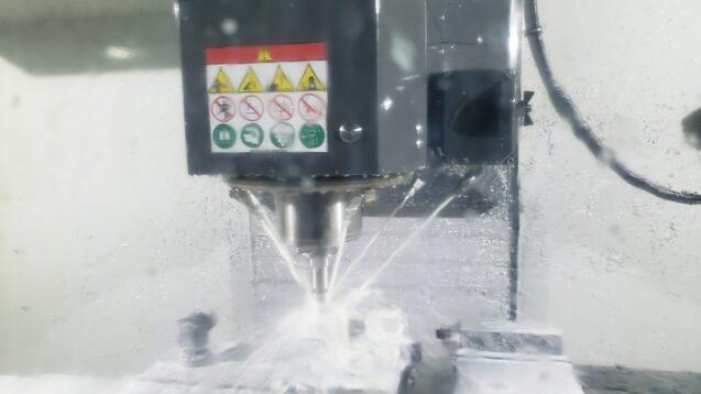 CNC Milling Machine cutting aluminum